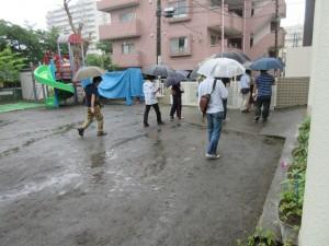 雨の中をおやじさんたちは、帰宅されて行きました。本当に有難うございました