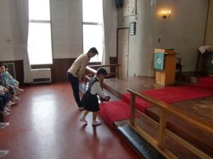 礼拝の中で、東日本大震災被災者を覚えて献金をしました。