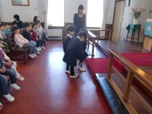 東日本大震災被災者を覚えての献金です。