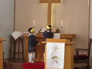 礼拝の中で、熊本・大分の地震による被災者の皆さんのための献金をしました。