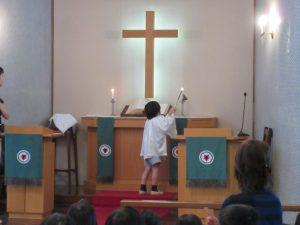 一学期最後の終業式礼拝でした。