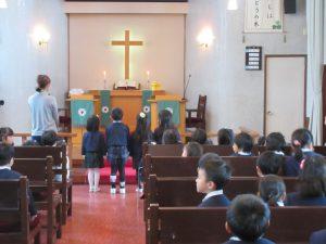東日本大震災被災者を覚えて献金です。