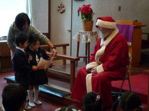 サンタさんに感謝状を差し上げました。