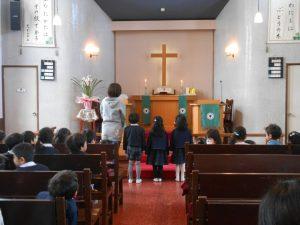 お誕生会の礼拝の中で、いつものように、東日本大震災被災者を覚えて献金をしました。
